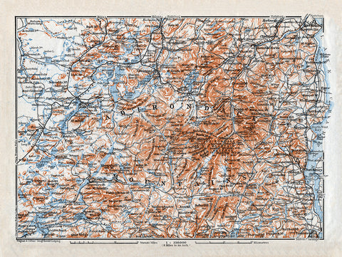 Adirondack Mountains Map - Print - Stomping Grounds