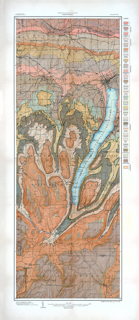 Geological Map of the Canandaigua and Naples Quadrangles - Print - Stomping Grounds