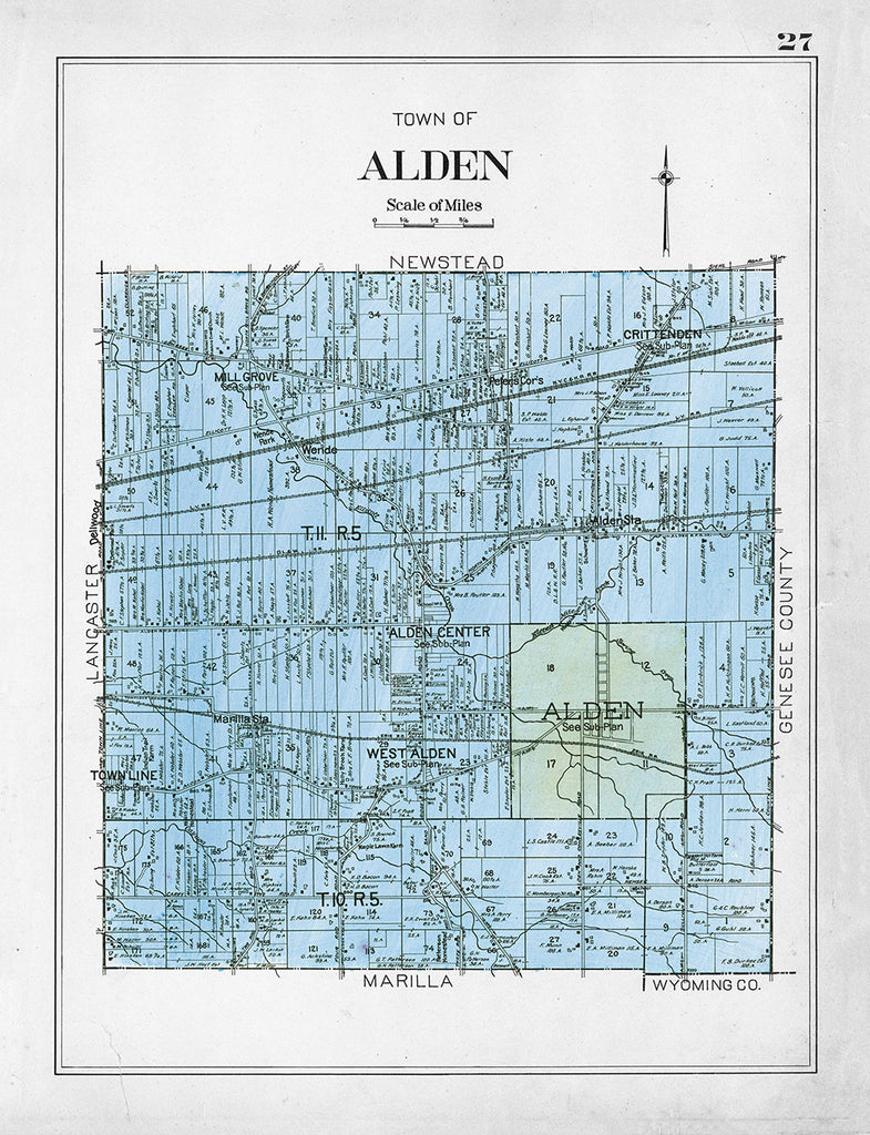 Town of Alden, New York Map - Print - Stomping Grounds
