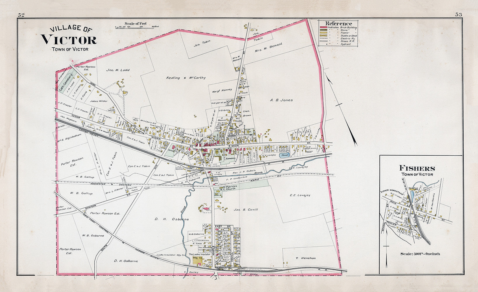 Village of Victor, Plate Map