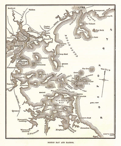 Boston Bay and Harbor Map