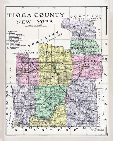 Tioga County, New York Map