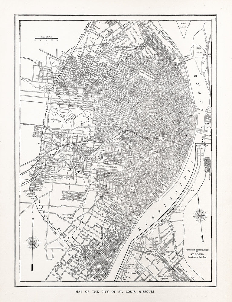 Map of the City of St. Louis, Missouri