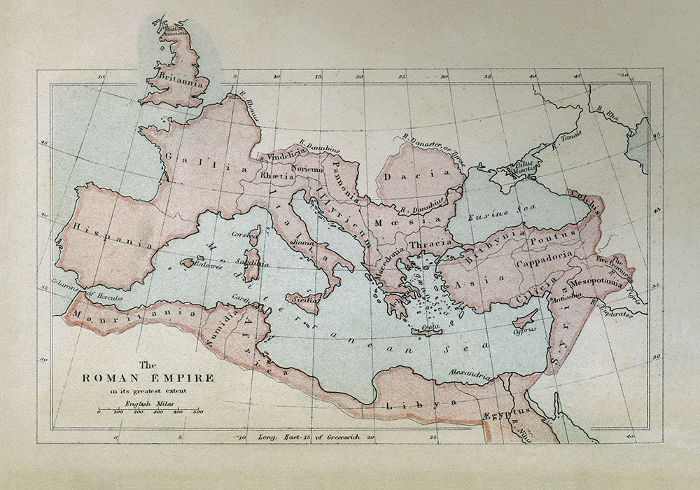 The Roman Empire in its Greatest Extent - Print - Stomping Grounds