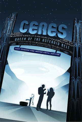 Ceres - Queen of the Asteroid Belt – NASA JPL Space Travel Poster
