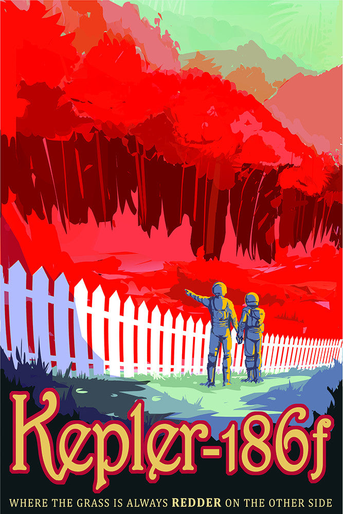 Kepler 186f – NASA JPL Space Travel Poster - Print - Stomping Grounds