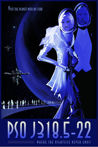 PSO J318.5-22 – NASA JPL Space Travel Poster