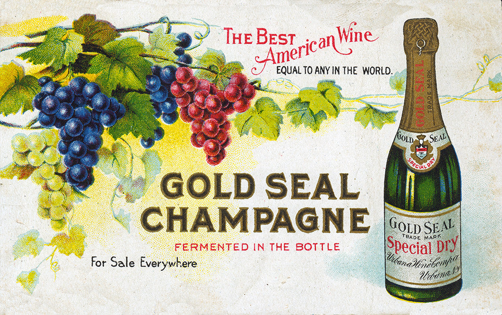 Urbana Wine – Gold Seal Champagne Advertisement - Print - Stomping Grounds
