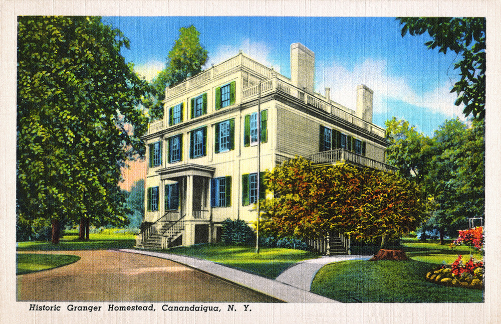 Historic Granger Homestead, Canandaigua, NY - Print - Stomping Grounds