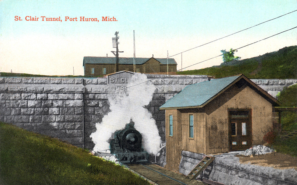 Saint Clair Tunnel, Port Huron, Michigan - Print - Stomping Grounds