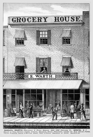 Samuel Warth, Wholesale and Retail Grocer, Geneva, NY