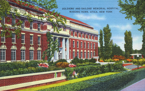 Soldiers' and Sailors' Memorial Hospital, Masonic Home, Utica, NY