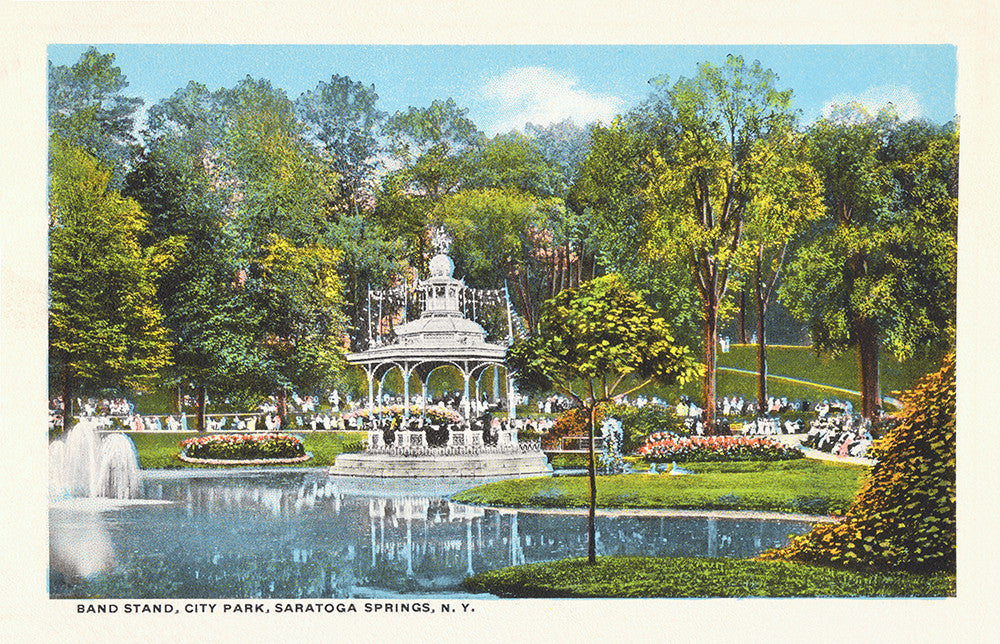 Band Stand, City Park, Saratoga Springs, NY - Print - Stomping Grounds