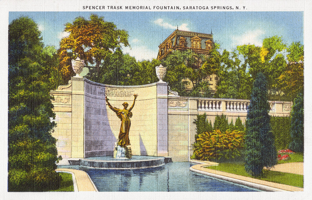 Spencer Trask Memorial Fountain, Saratoga Springs, NY - Print - Stomping Grounds