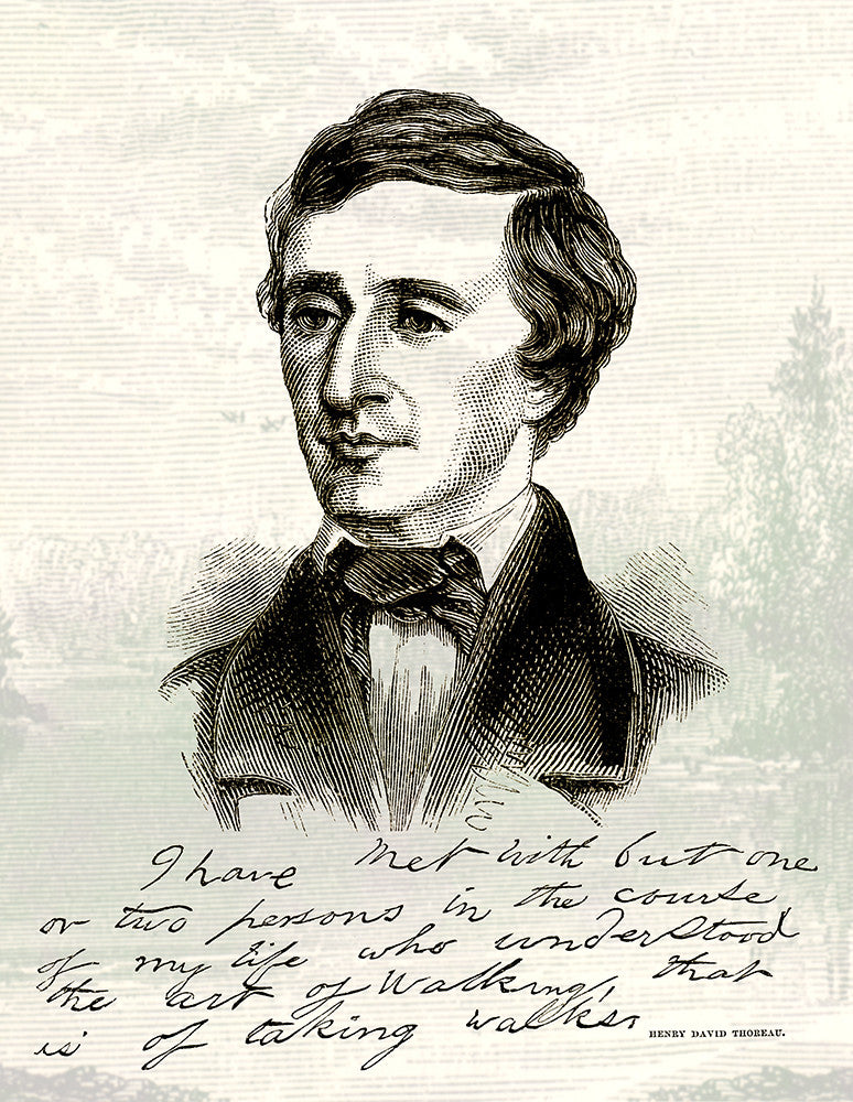 Henry David Thoreau - Print - Stomping Grounds