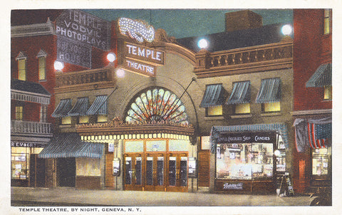 Temple Theater By Night, Geneva, NY