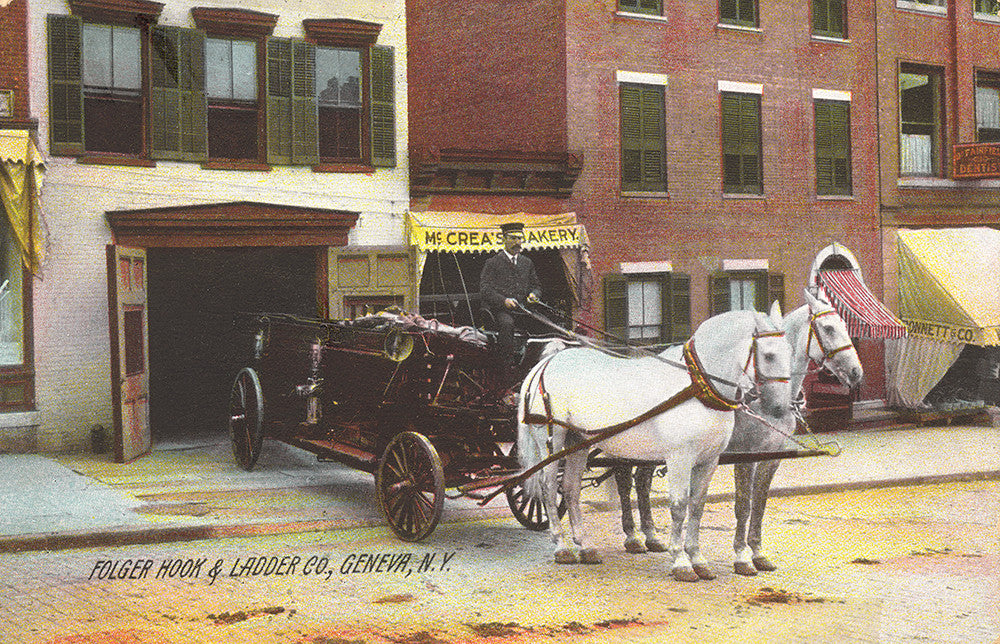 Folger Hook & Ladder Co., Geneva, NY - Print - Stomping Grounds
