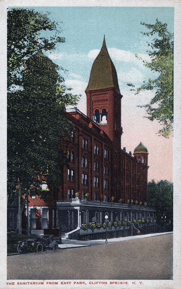 The Sanitarium from East Park, Clifton Springs, NY - Print - Stomping Grounds