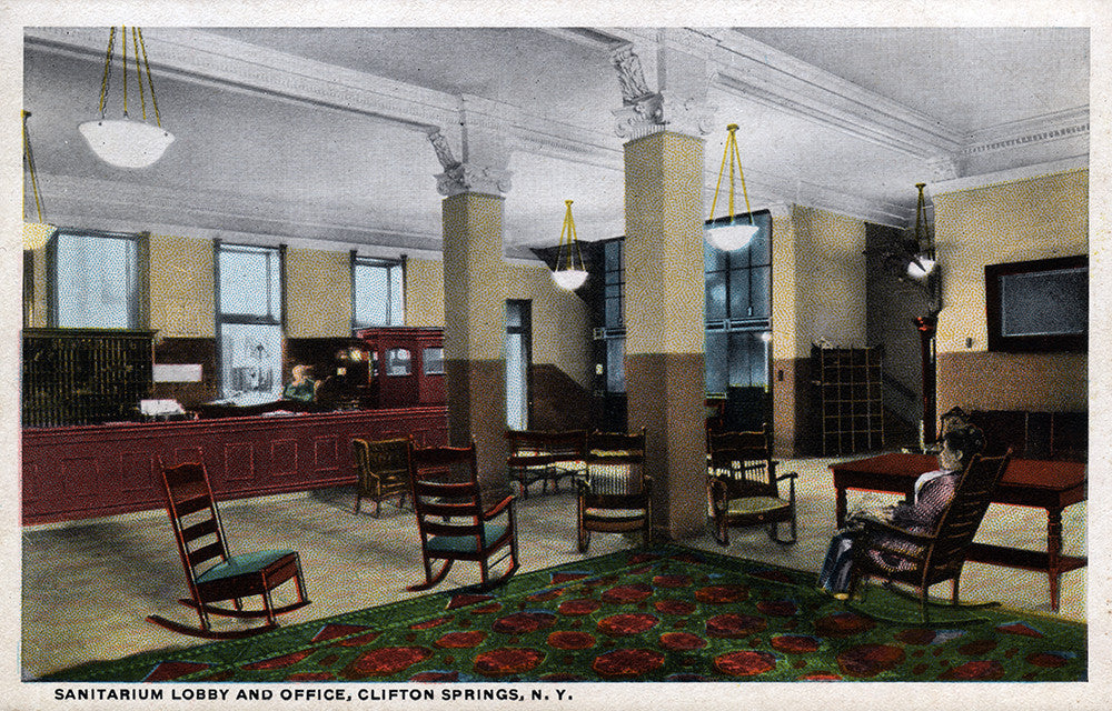 Sanitarium Lobby and Office, Clifton Springs, NY - Print - Stomping Grounds
