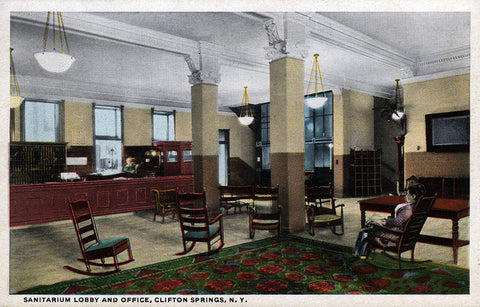 Sanitarium Lobby and Office, Clifton Springs, NY