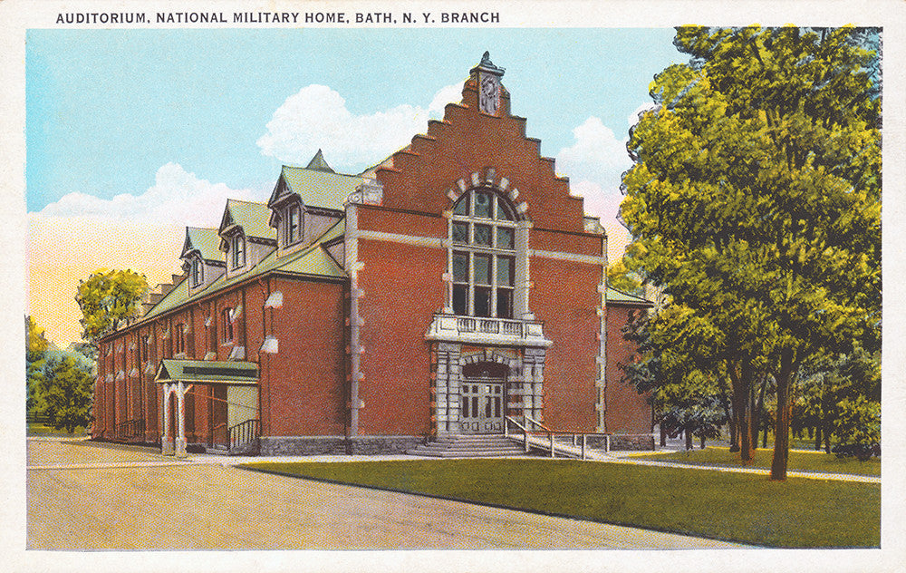 Auditorium, National Military Home, Bath, NY Branch - Print - Stomping Grounds