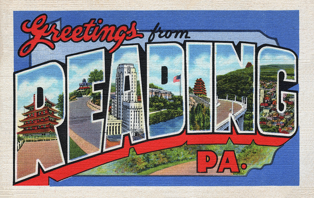 Greetings From Reading, PA - Print - Stomping Grounds