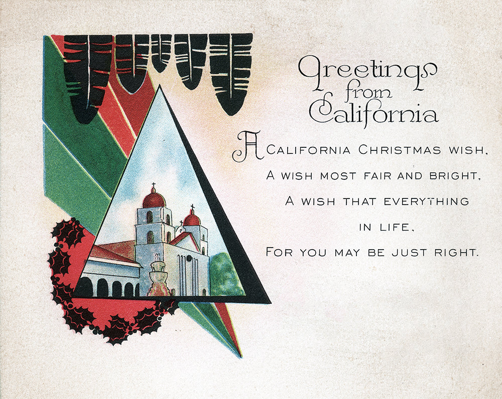 Christmas Greetings From California - Print - Stomping Grounds