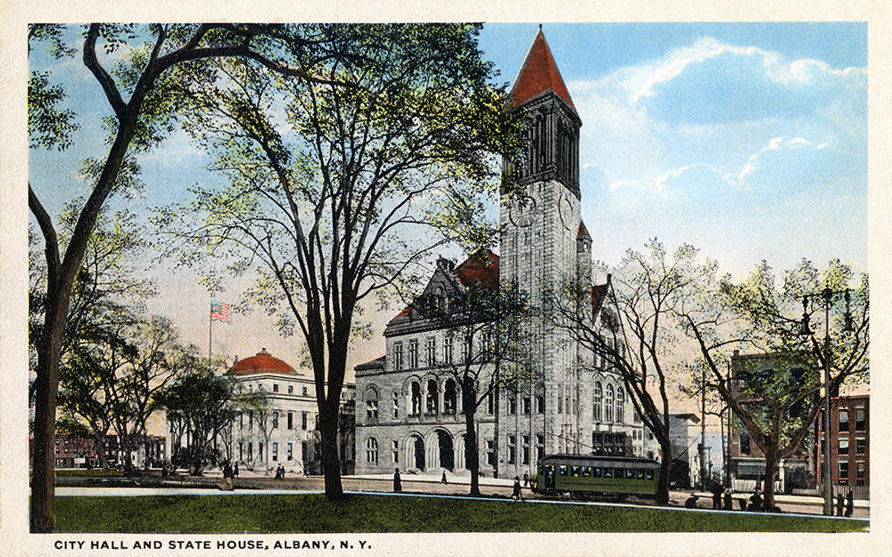 City Hall and State House, Albany NY - Print - Stomping Grounds