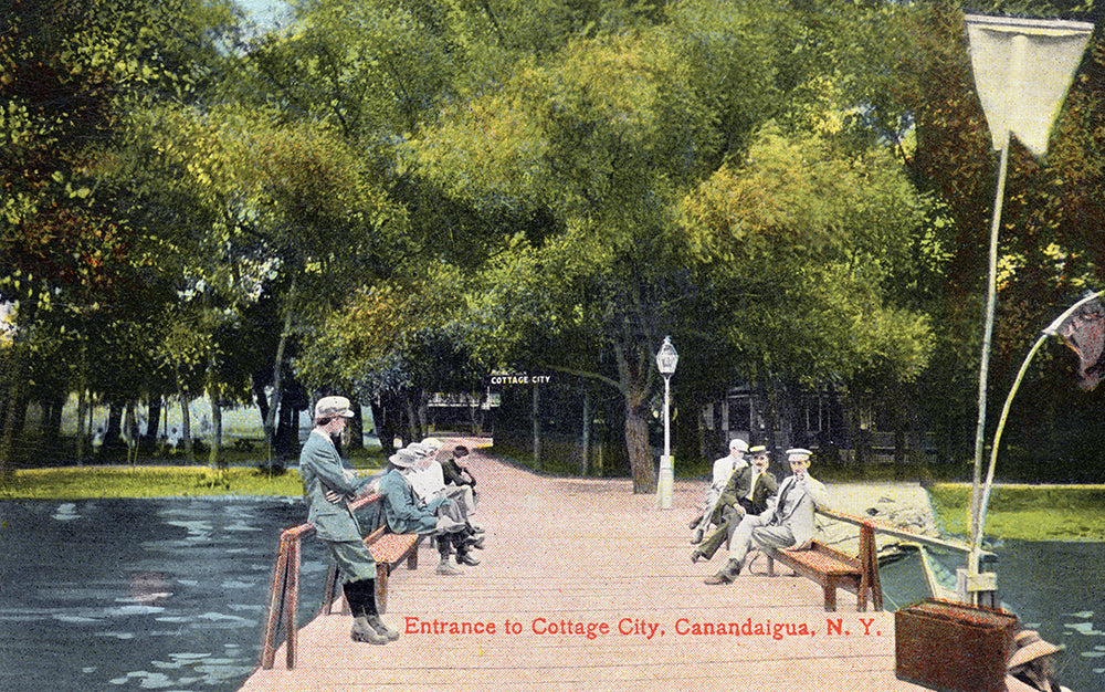 Entrance to Cottage City, Canandaigua NY - Print - Stomping Grounds