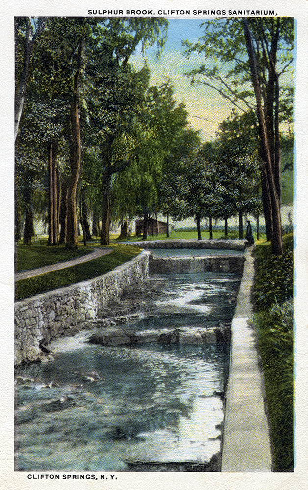 Sulfur Brook, Clifton Springs Sanitarium, Clifton Springs, NY - Print - Stomping Grounds