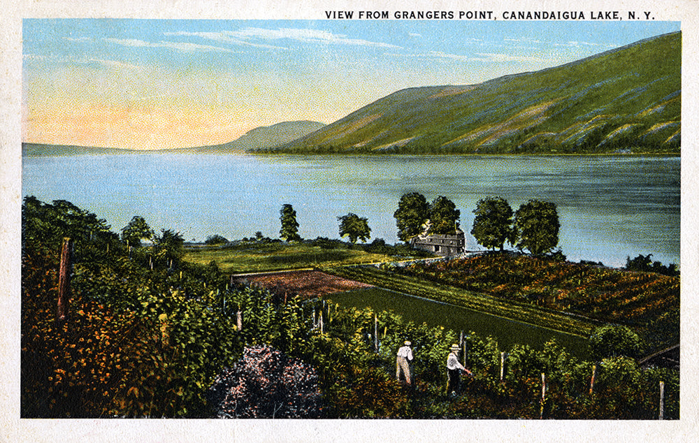 View From Grangers Point, Canandaigua Lake NY - Print - Stomping Grounds