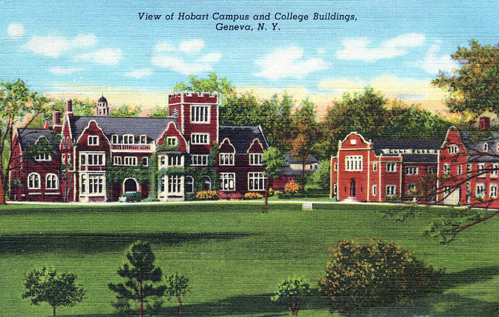 View of Hobart Campus and College Buildings, Geneva NY - Print - Stomping Grounds