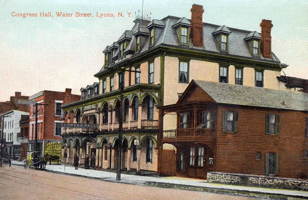 Congress Hall, Water Street, Lyons NY - Print - Stomping Grounds