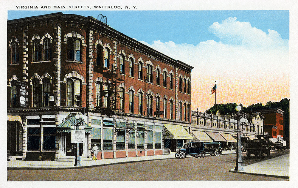 Virginia and Main Streets, Waterloo, NY - Print - Stomping Grounds