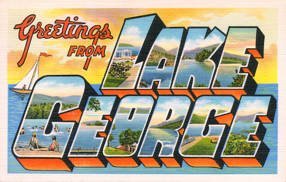Greetings From Lake George - Print - Stomping Grounds