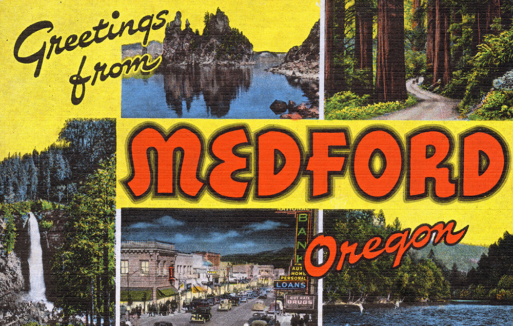 Greetings From Medford, Oregon - Print - Stomping Grounds