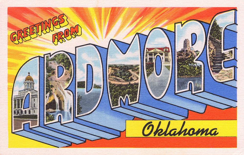 Greetings Form Ardmore, Oklahoma - Print - Stomping Grounds