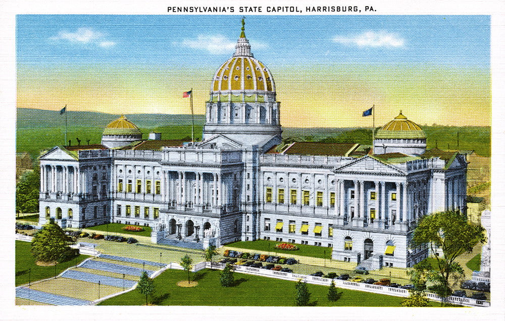 Pennsylvania's State Capitol, Harrisburg, PA - Print - Stomping Grounds