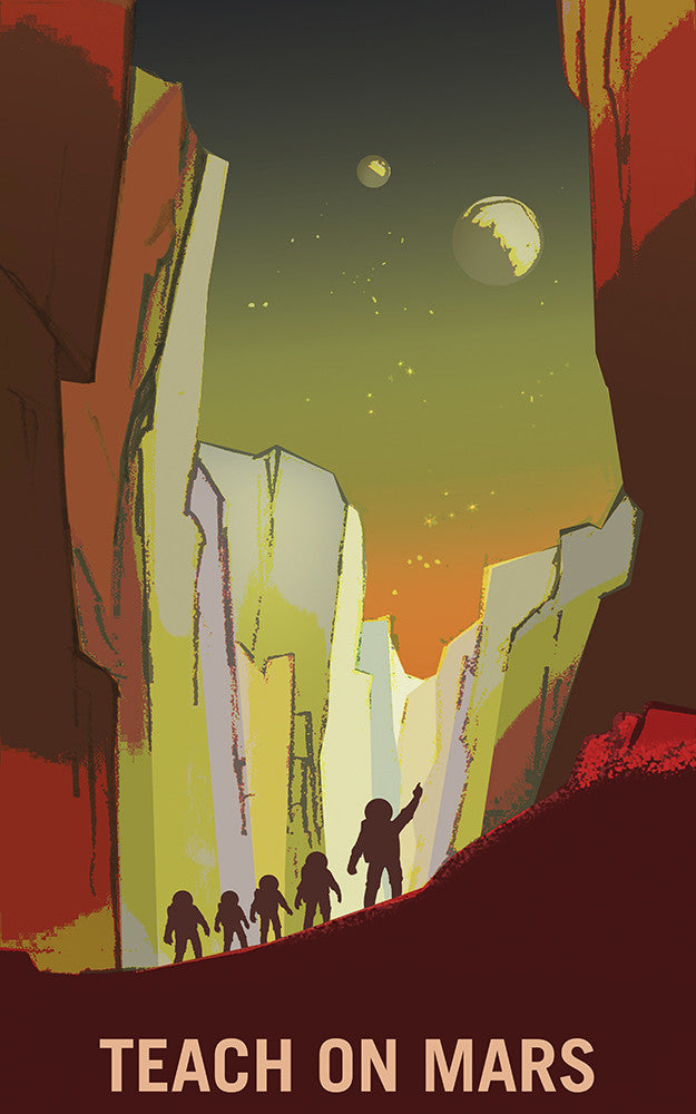 Mars Explorers - Teach on Mars - Print - Stomping Grounds