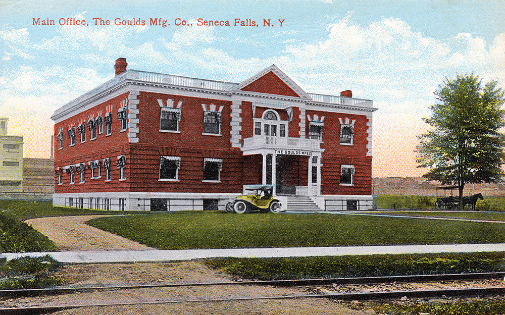 Main Office, The Goulds Manufacturing Company, Seneca Falls, NY - Print - Stomping Grounds