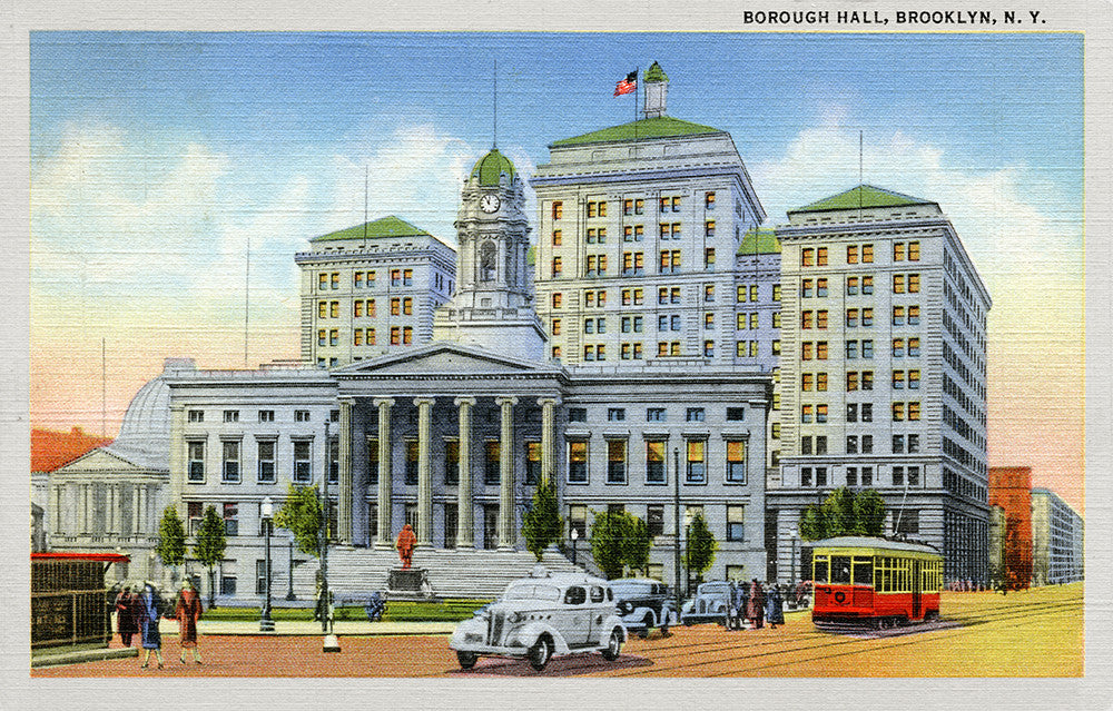 Borough Hall, Brooklyn, NY - Print - Stomping Grounds