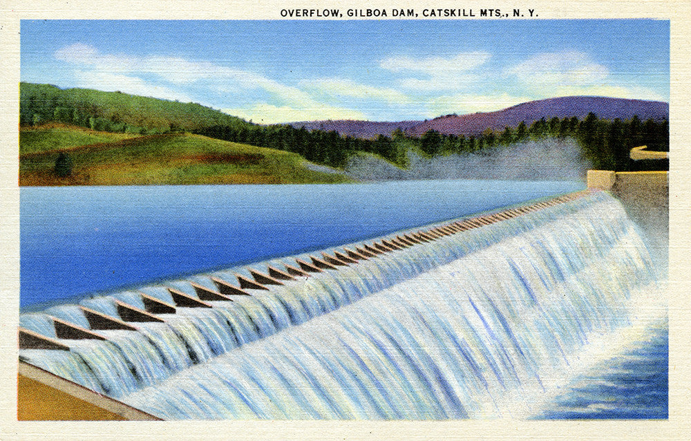 Overflow, Gilboa Dam, Catskill Mountains, NY