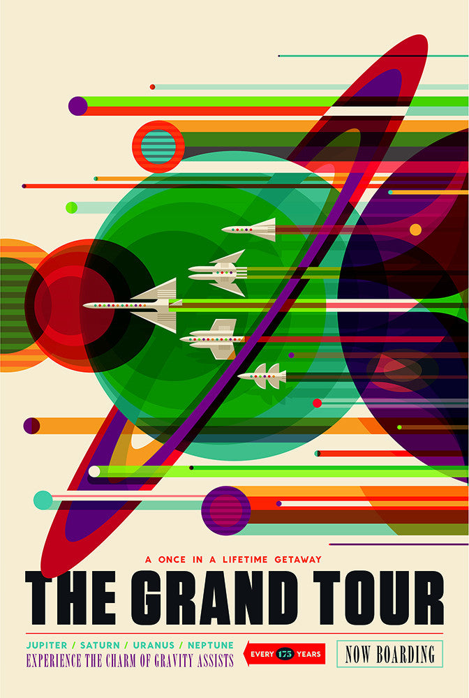 The Grand Tour – NASA JPL Space Travel Poster - Print - Stomping Grounds