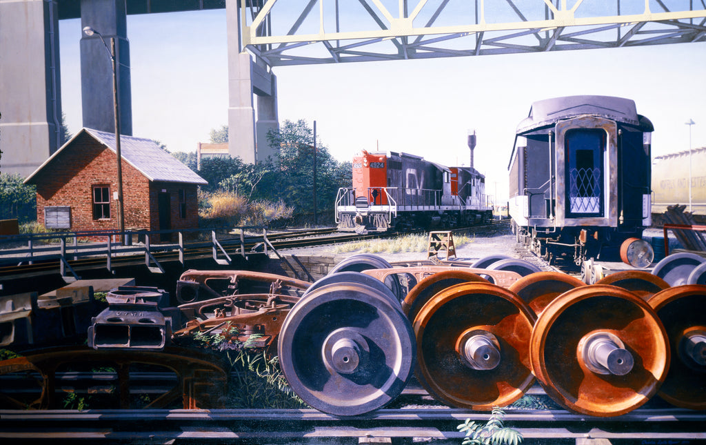 Railroad Yard, New London, CT - Print - Chaz Moser - Stomping Grounds