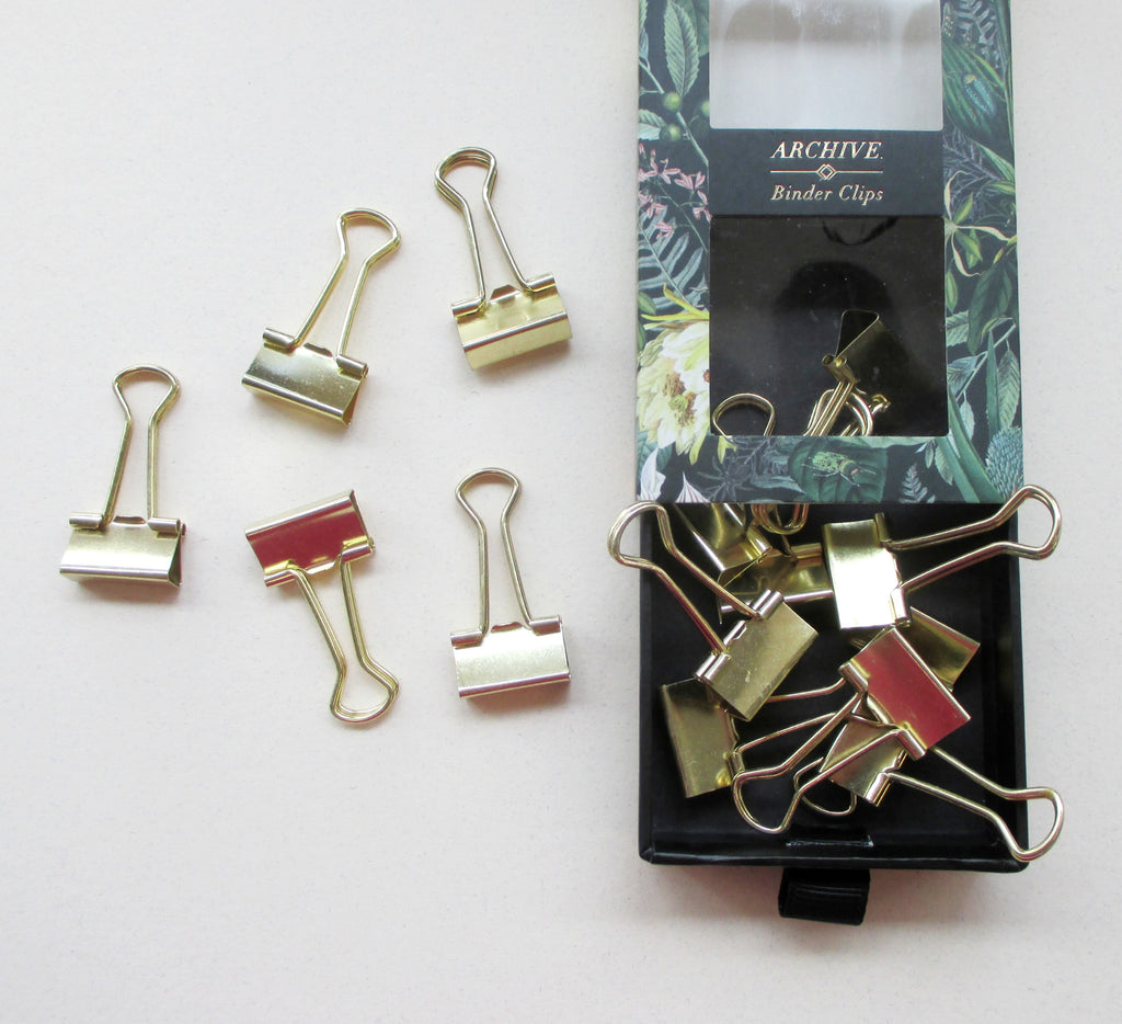 Portico Designs - Archive - Binder Clips (Set of 15)