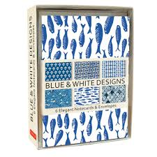 Blue & White Note Cards - Notecard - Stomping Grounds