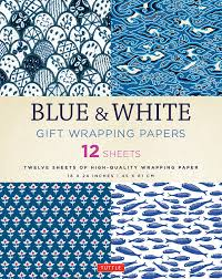 Blue & White Gift Wrapping Papers - Gift - Stomping Grounds