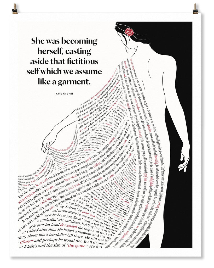 Literary Art Print- She Was Becoming Herself