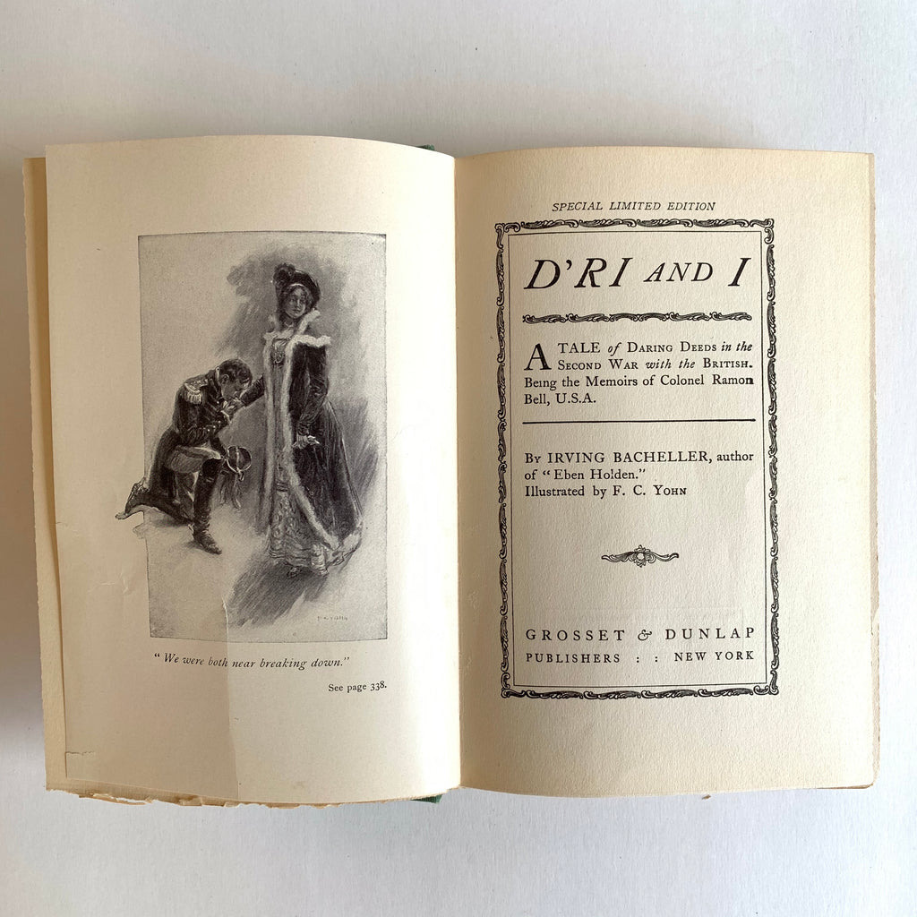 Vintage Book- D'ri and I by Irving Bacheller