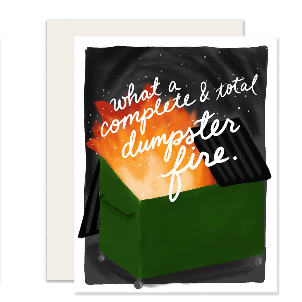 Dumpster Fire Card - Notecard - Stomping Grounds